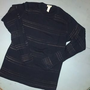 Distressed striped thermal!